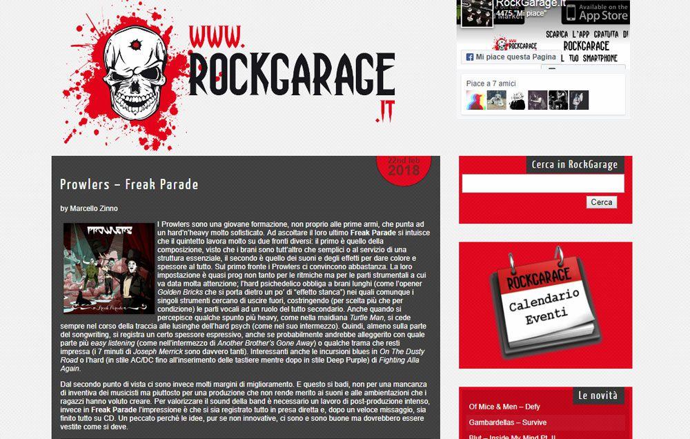 Recensione su RockGarage
