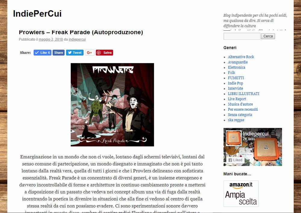 Recensione su IndiePerCui