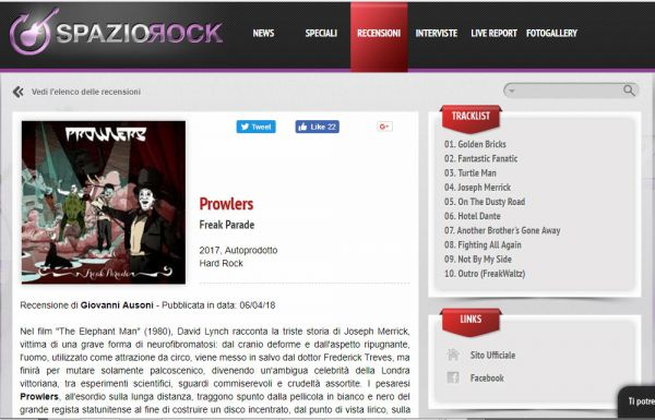 Review on Spaziorock.it