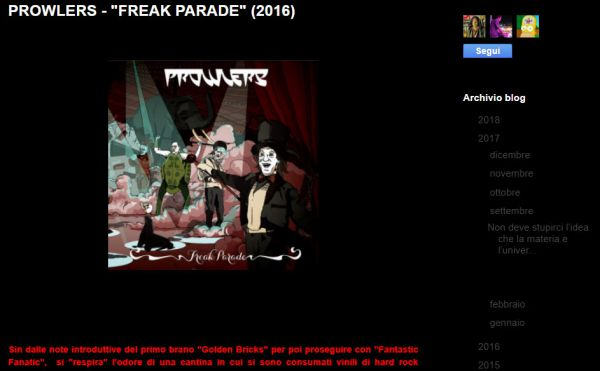 Blog Emmanuel Menchetti: Freak Parade